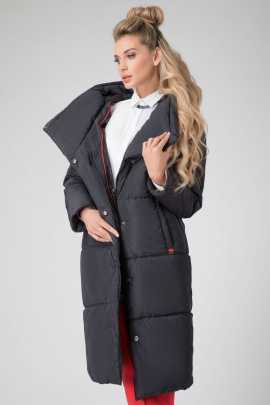 Пальто ElectraStyle 5у-7140-112 cиний_туман