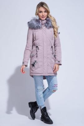 Пальто ElectraStyle ИЧ3у-8139-264 дымчато_розовый