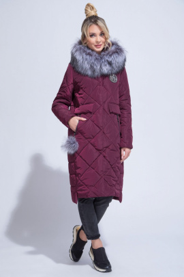 Пальто ElectraStyle ИЧ5у-8142-112 бургундия