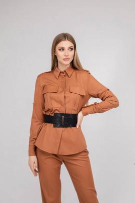 Рубашка JKY BO-001 терракотовый