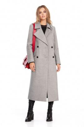 Пальто PiRS 801 светло-серый