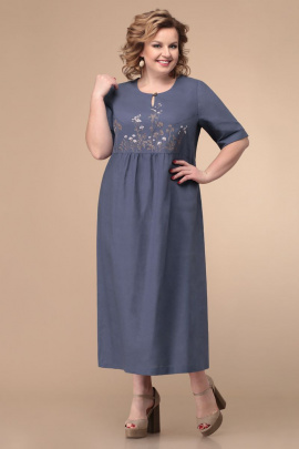 Платье Линия Л Б-1789 синий_светлый
