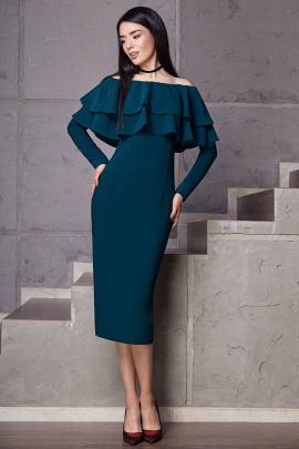 Платье LaVeLa L1676 изумрудный