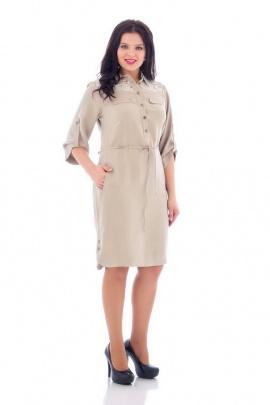 Платье БАГРЯНИЦА 2100 бежевый