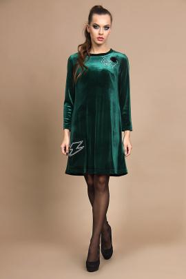Платье Olegran О417 зелень