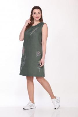Платье GALEREJA 614 хаки