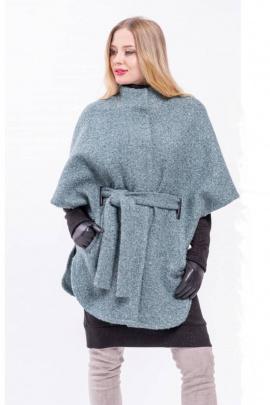 Пальто Arisha 8060 пепельно-изумрудный
