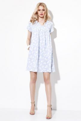 Платье Prio 704380 бело-голубой