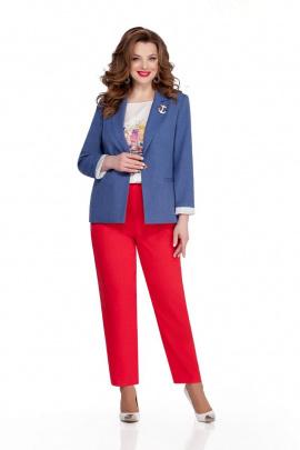 Женский костюм TEZA 943 джинс-красный
