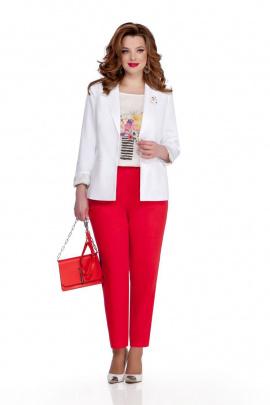 Женский костюм TEZA 943 белый-красный