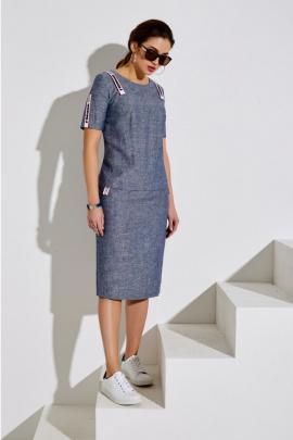Платье Lissana 4006 серо-синий
