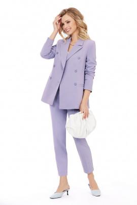 Женский костюм PiRS 1005 лаванда-белый