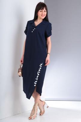 Платье VIA-Mod 439А темно-синий
