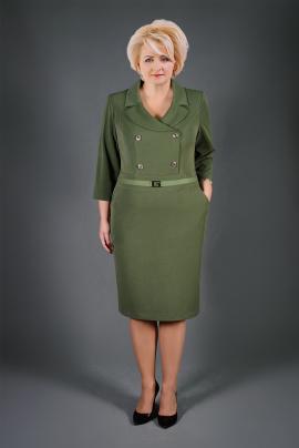 Платье Manklover 1046 зелень