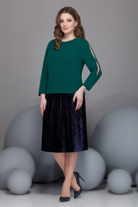 Блуза, Юбка Ивелта плюс 2432 зеленый