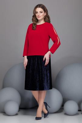 Блуза, Юбка Ивелта плюс 2432 красный