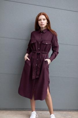Платье Individual design 19133 черно-бордовая_клетка
