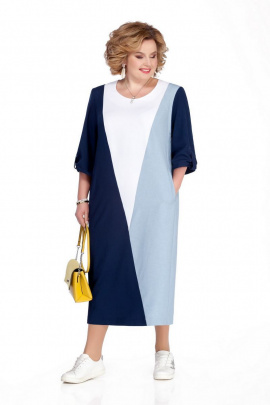 Платье Pretty 1073 синий-голубой