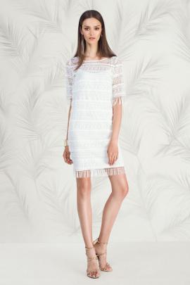 Платье Nelva 5786 молочный