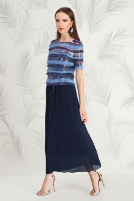 Блуза Nelva 21504 синий