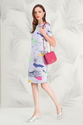 Платье Nelva 5819 серый_мультиколор