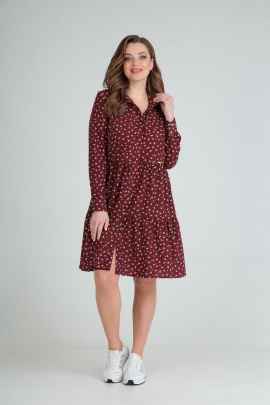 Платье Lady Line 473 бордо