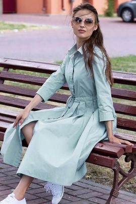 Платье Individual design 19116 серо-голубой