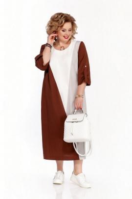 Платье Pretty 1073 коричневый-ваниль
