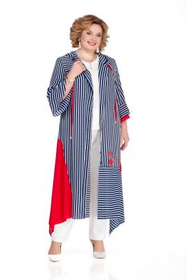 Платье Pretty 1086 бело-сине-красный