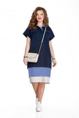 Платье TEZA 906 синий+голубой