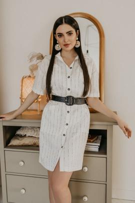 Платье Temper 323 белый+черная_полоска