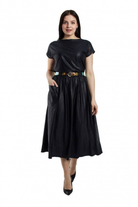 Платье, Ремень Effect-Style 698 синий