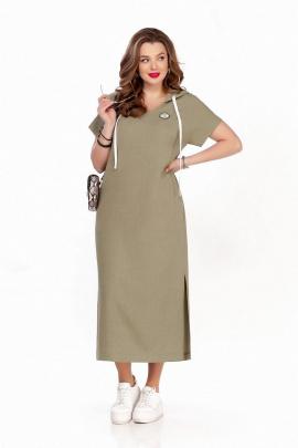 Платье TEZA 1244 хаки