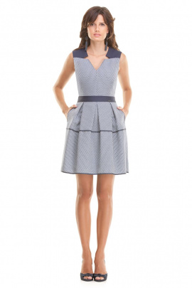 Платье Nelva 5615 голубовато-синий
