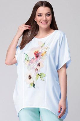 Блуза SOVA 11043  голубой