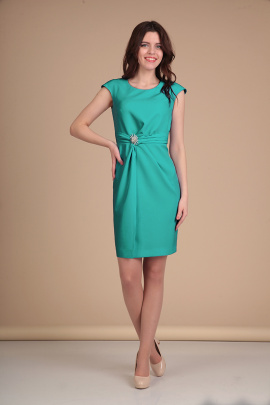 Платье Lady Line 418 бирюза