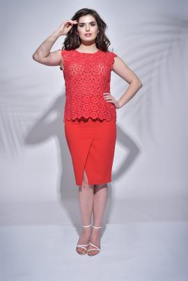 Блуза Faufilure outlet С411 красный