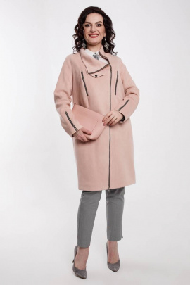 Пальто Дорофея 410 розовый