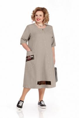 Платье Pretty 1113 серо-бежевый