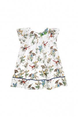 Платье Bell Bimbo 181304 набивка/молоко