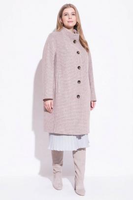 Пальто ElectraStyle 4-0026-012 корич-бел