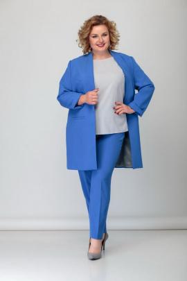 Женский костюм БАГРЯНИЦА 3042 синий.