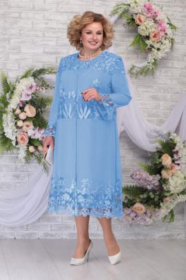 Кардиган, Платье Ninele 2258 голубой