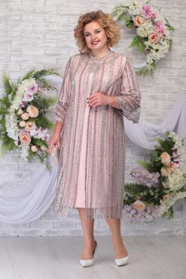 Кардиган, Платье Ninele 5730 темная-пудра