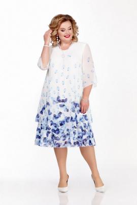 Платье Pretty 242 бело-голубой