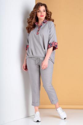 Брюки, Блуза Liona Style 752 серый