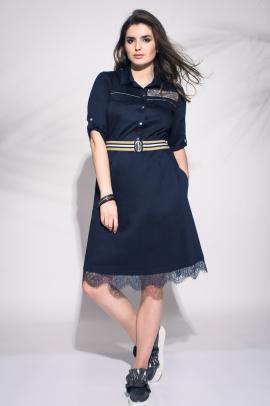 Платье Faufilure outlet С477 синий