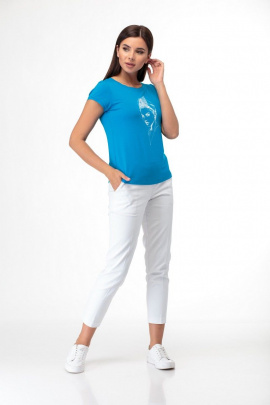 Майка Anelli 525 голубой