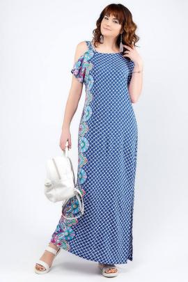 Платье La rouge 5233 ультрамарин-набивной