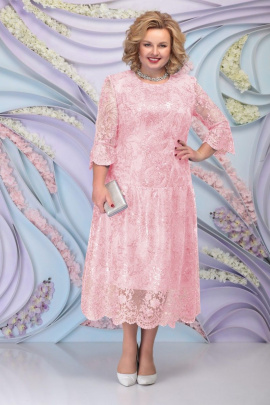 Платье Ninele 7293 пудра